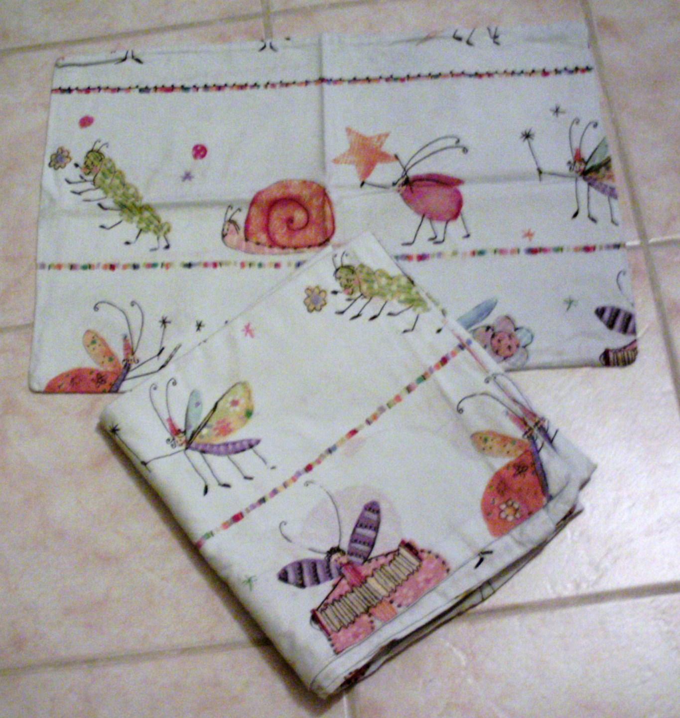 Lot linge de lit b b coton blanc motifs petites b tes 2 for Housse de couette ikea enfant